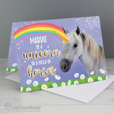 Personalised Rachael Hale Unicorn Card | ShaneToddGifts.co.uk