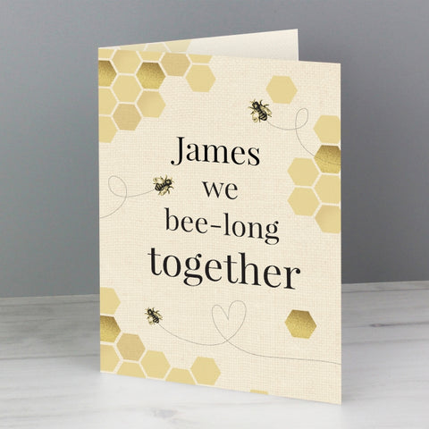 Personalised We Bee-Long Together Card | ShaneToddGifts.co.uk