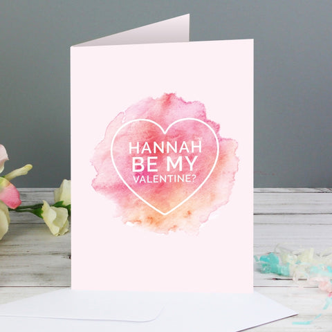 Personalised Be My Valentine Heart Card | ShaneToddGifts.co.uk