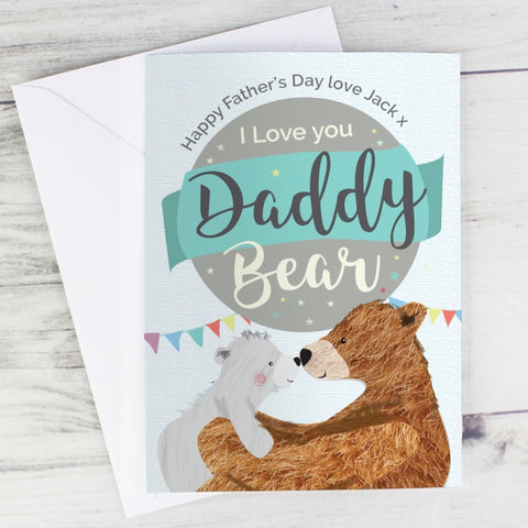 Buy Personalised Daddy Bear Card