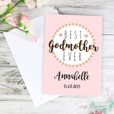 Buy Personalised Best Godmother Card
