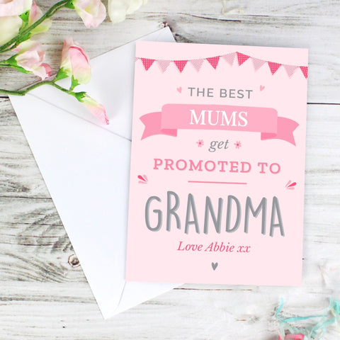 Buy Personalised Pink Promoted to Card