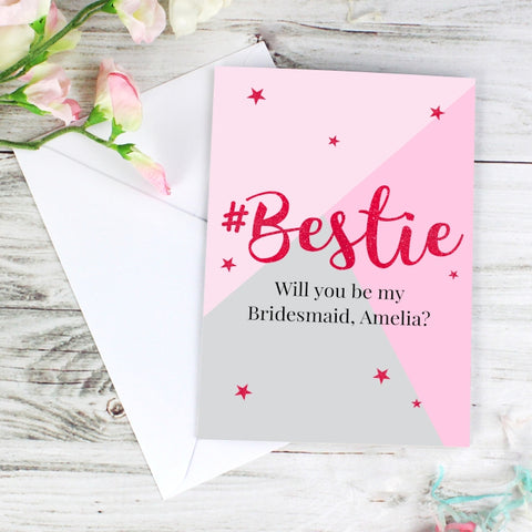 Buy Personalised #Bestie Card