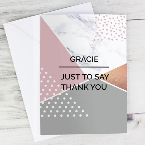 Buy Personalised Geometric Card