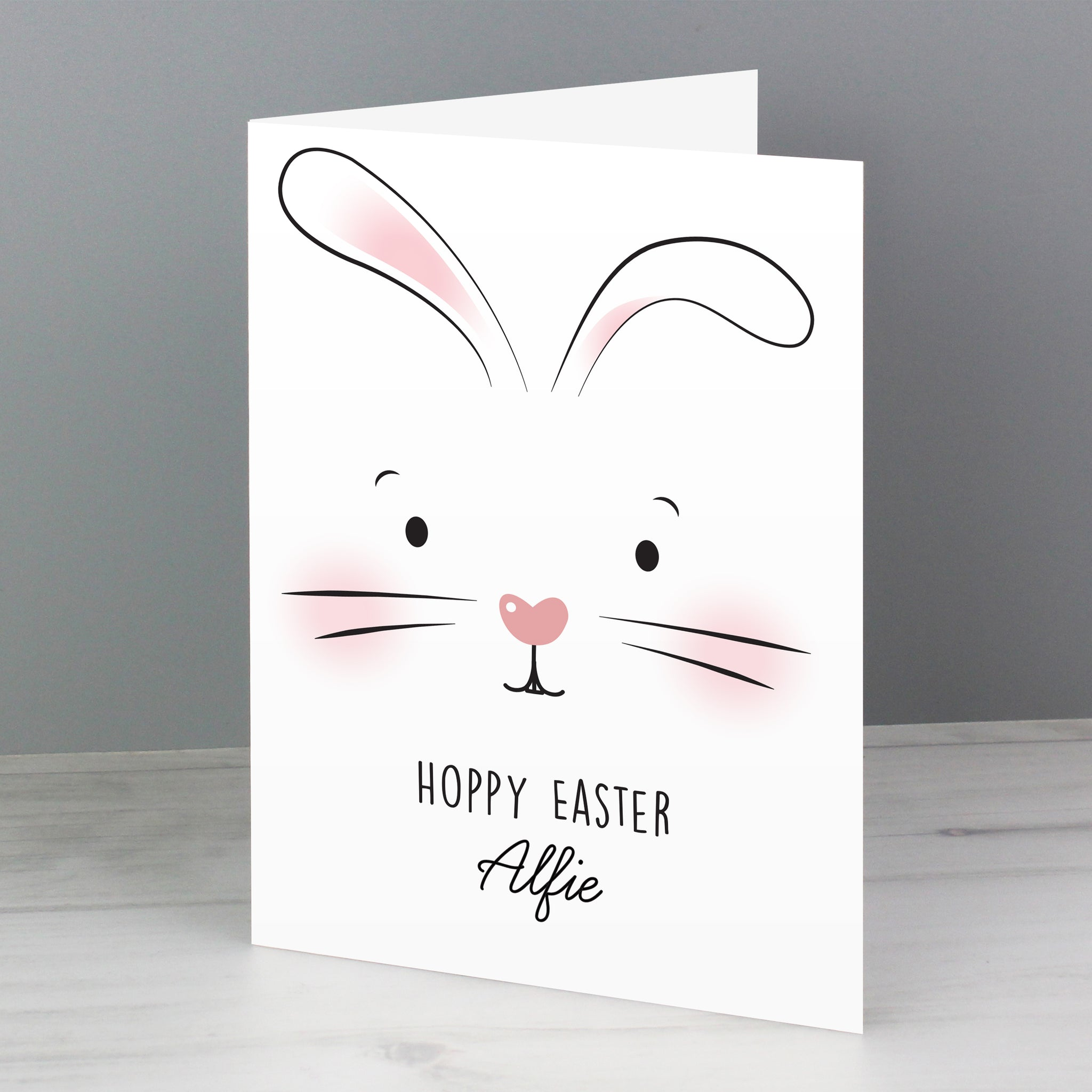 Personalised Bunny Features Card