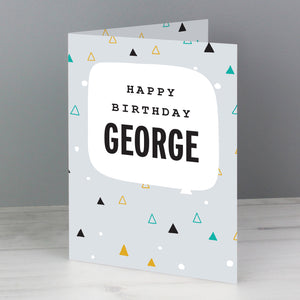 Personalised Geo Birthday Card