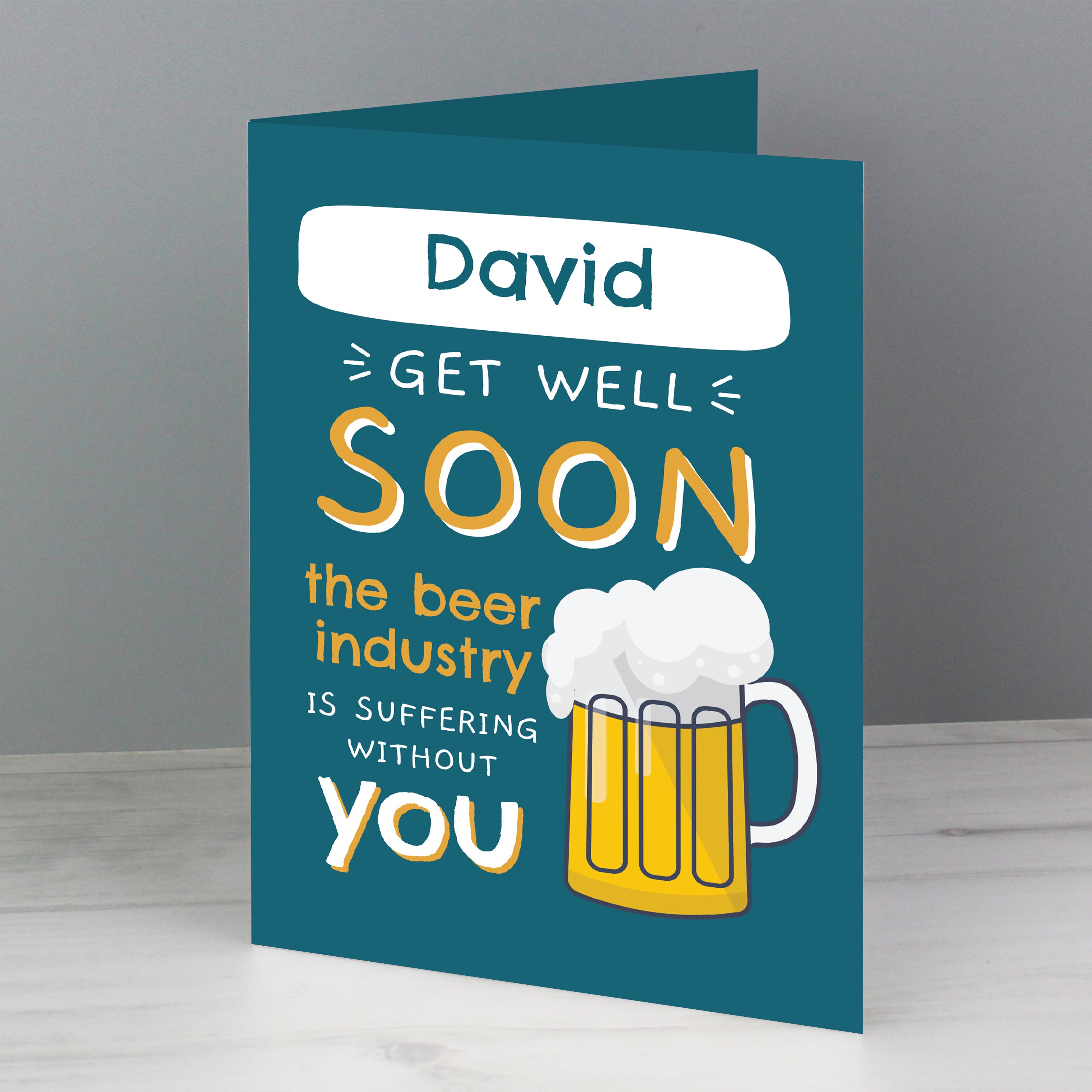 Personalised Get Well Soon Card, Gift Giving by Gifts24-7