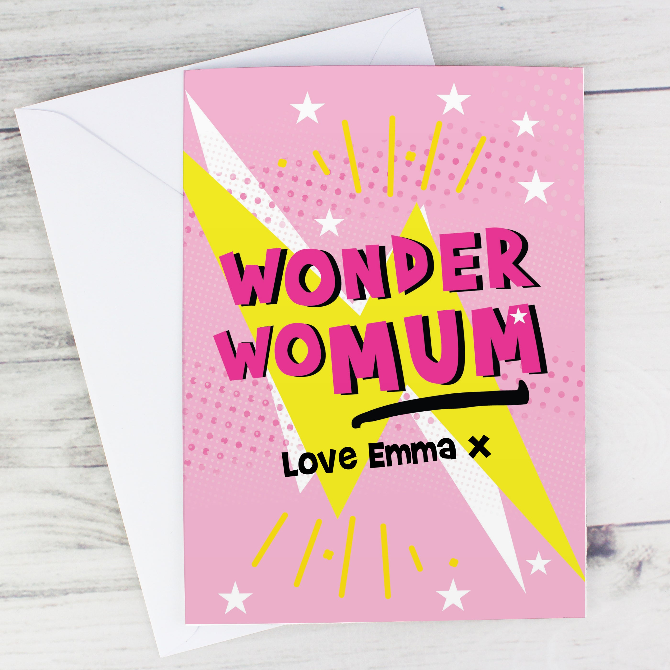 Personalised Wonder WoMum Card, Gift Giving by Low Cost Gifts