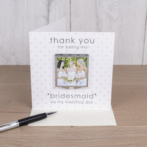Card with Compact Mirror - Wedding - Gifts24-7.co.uk