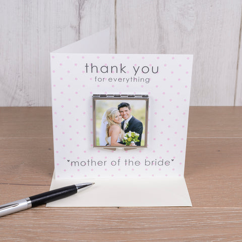 Personalised Card with Compact Mirror - Wedding