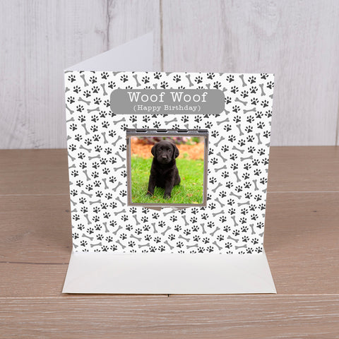 Card with Compact Mirror - Dog