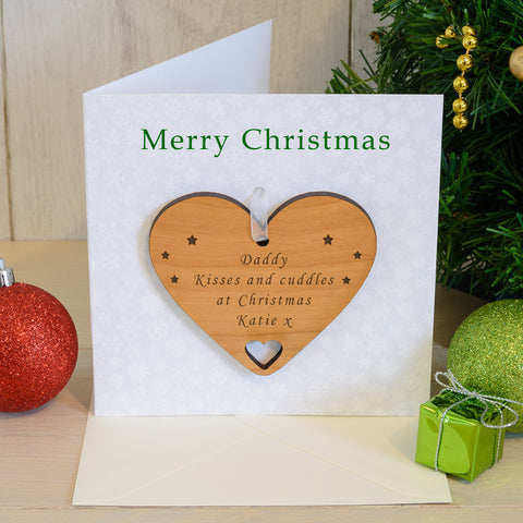 Christmas Greeting Card with Heart Decoration