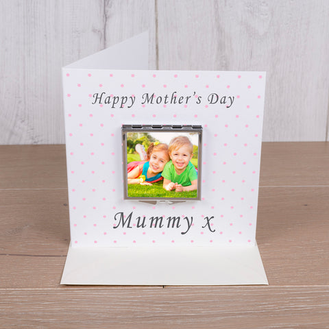 Card with Compact Mirror - Happy Mothers Day | Gifts24-7.co.uk