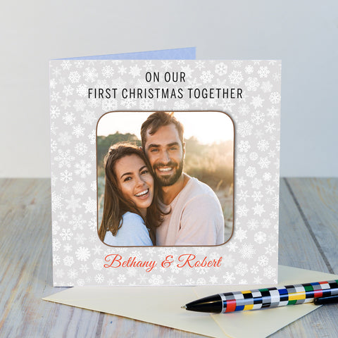 Coaster Card - On our first christmas