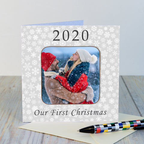 Coaster Card-Our First Christmas