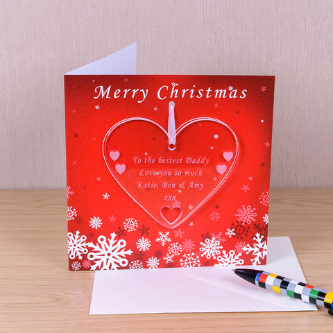 Greeting Card with Heart Decoration | Gifts24-7.co.uk
