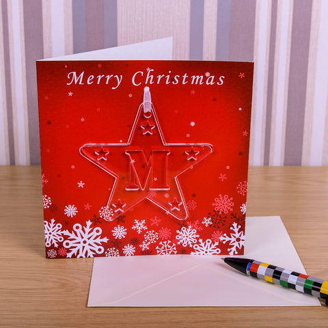 Greeting Card Initial Star decoration | Gifts24-7.co.uk