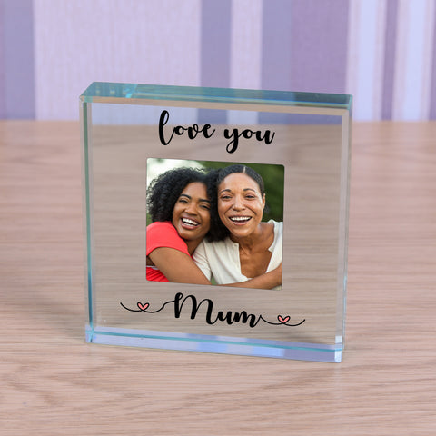 Personalised Glass Token - Love you...