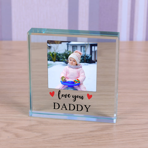Personalised Glass Token - Love you..