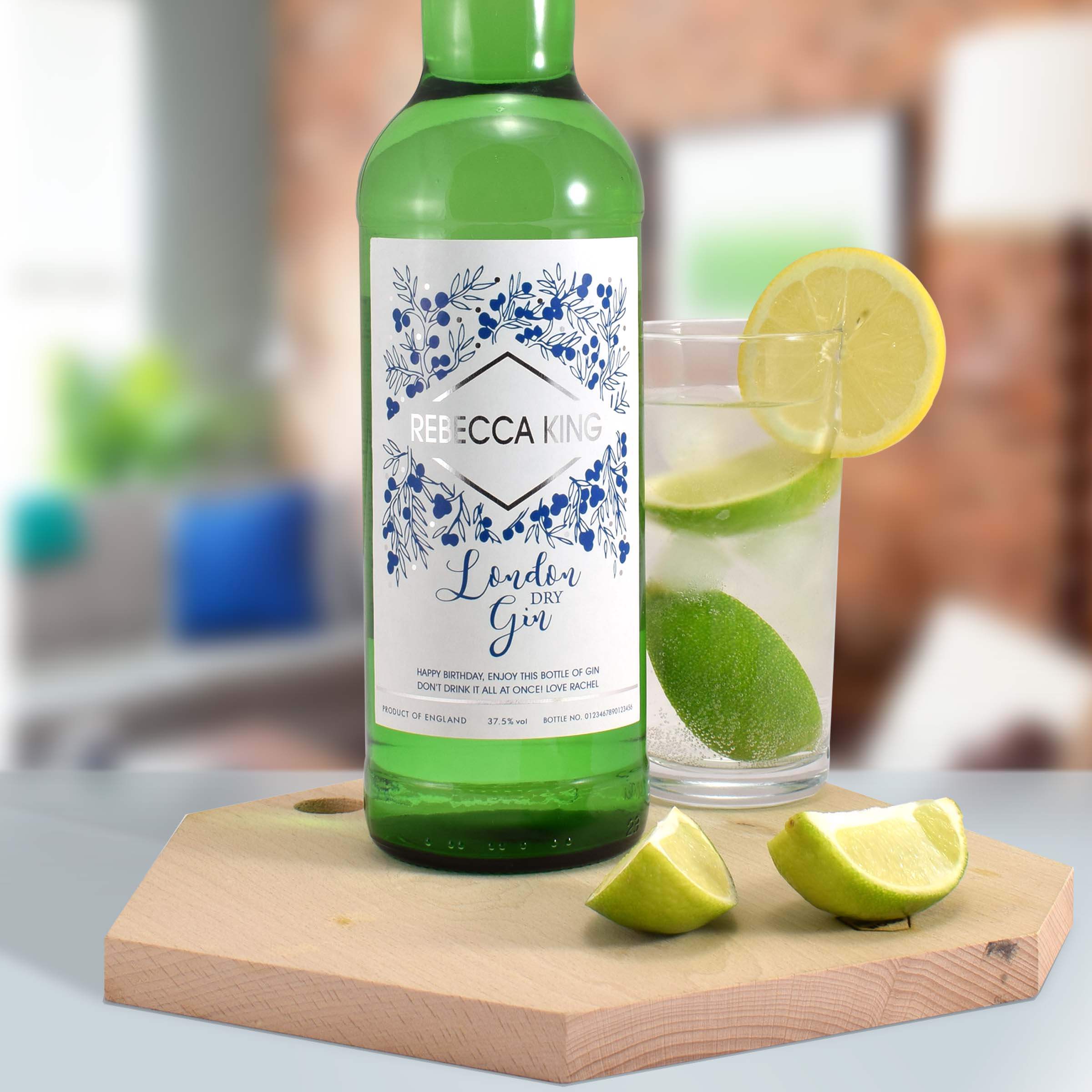 Personalised Modern Gin, Beverages by Low Cost Gifts