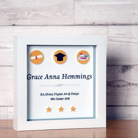 Personalised 3D Graduation Box Frame
