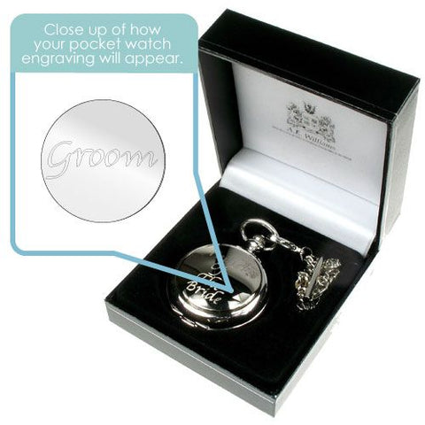 Engraved Pocket Watch for Groom