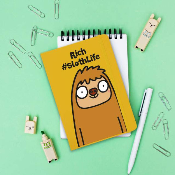 #SlothLife Yellow Notebook