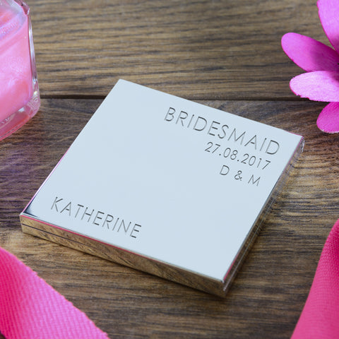 Square Compact Mirror Wedding Party Role | Gifts24-7.co.uk