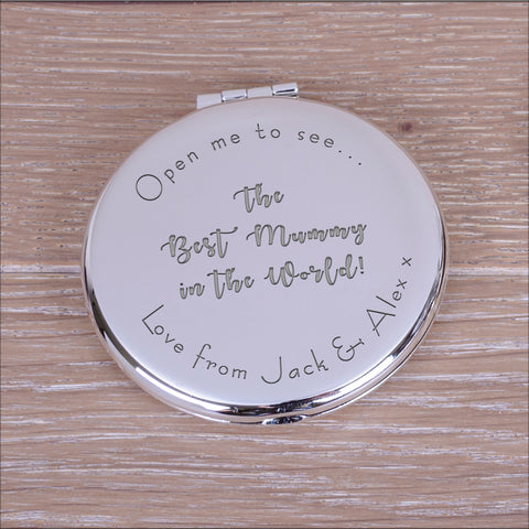Personalised Round Compact Mirror The Best...in the World!