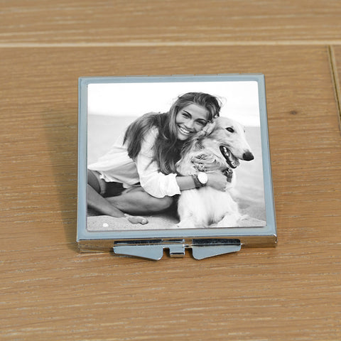 Personalised Pet Photo Compact Mirror