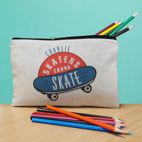 Personalised HotchPotch Skaters Gonna Skate Pencil Case