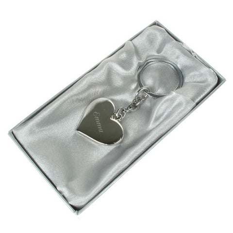 Engraved Heart Keyring | ShaneToddGifts.co.uk