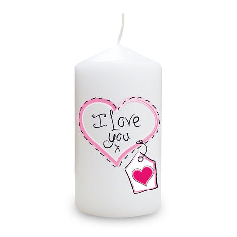 Buy Heart Stitch - I Love You Candle