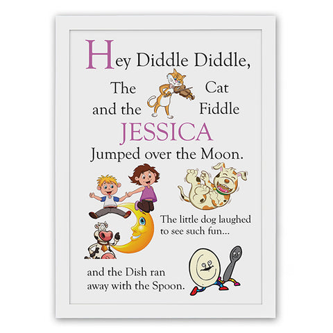 Personalised Hey Diddle Diddle Poster