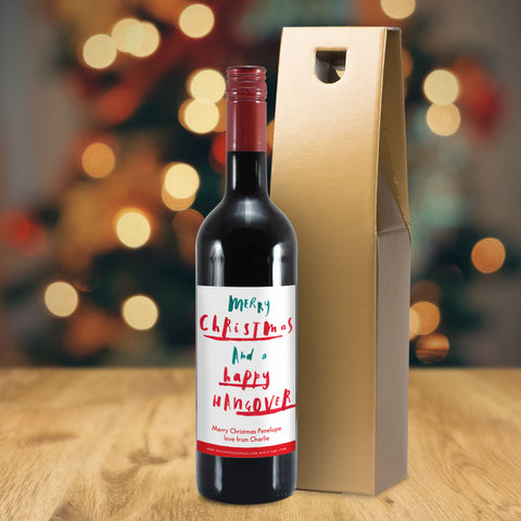 Personalised HotchPotch Happy Hangover Red Wine