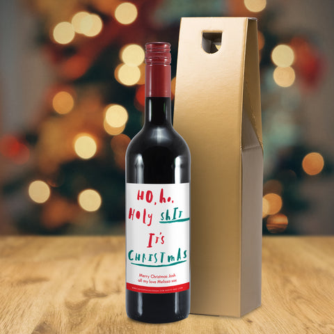 Personalised HotchPotch It's Christmas Red Wine