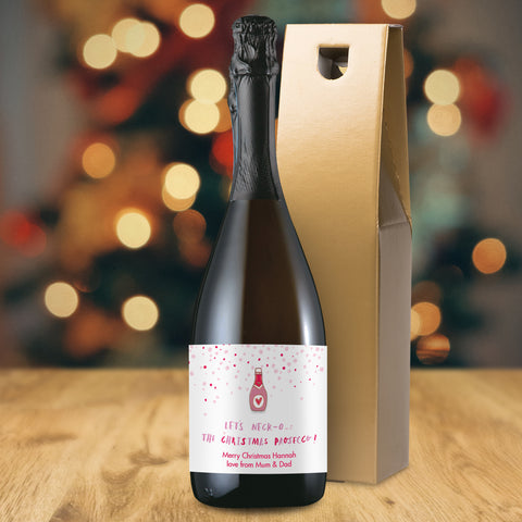 Personalised HotchPotch Let's Neck-o The Christmas Prosecco