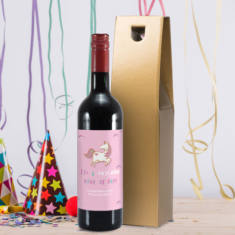 Personalised HotchPotch Unicorn Kind Of Day Red Wine