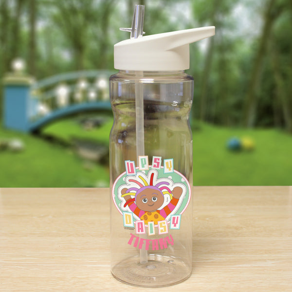 Personalised Upsy Daisy Plastic Waterbottle