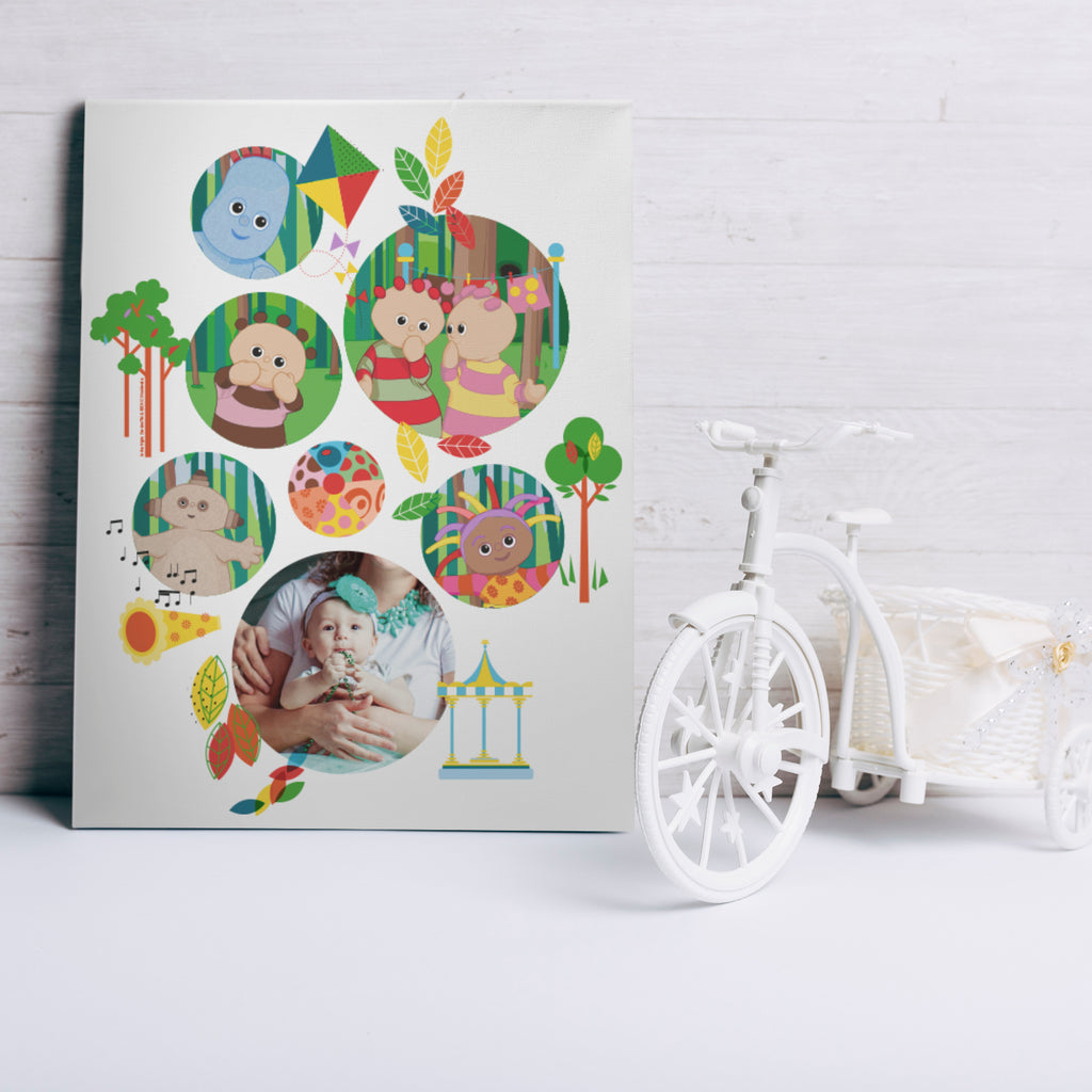 Personalised In The Night Garden Bubble Photo Canvas