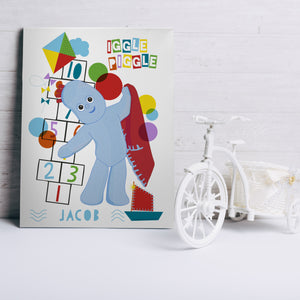 Personalised Iggle Piggle Hopscotch Canvas