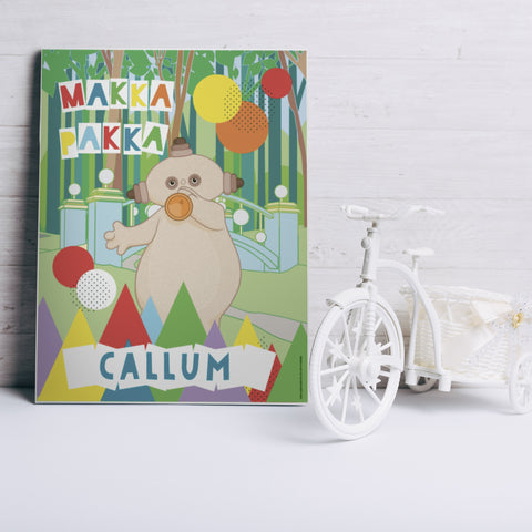 Personalised Makka Pakka Canvas