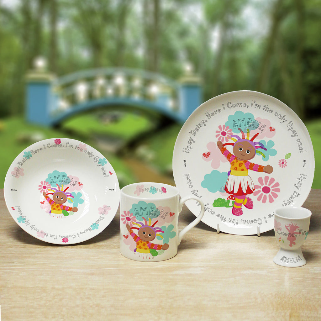 Personalised Upsy Daisy Breakfast Set