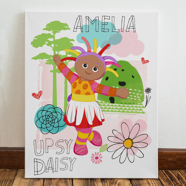 Personalised Upsy Daisy Canvas