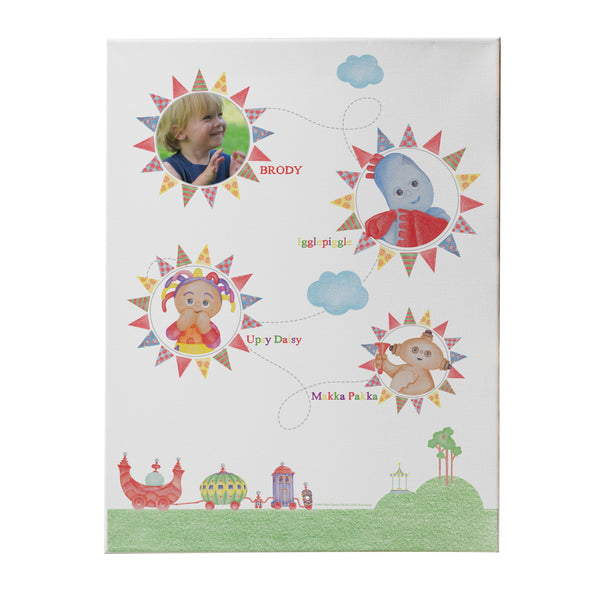 Personalised In The Night Garden Colouring Book Photo Canvas