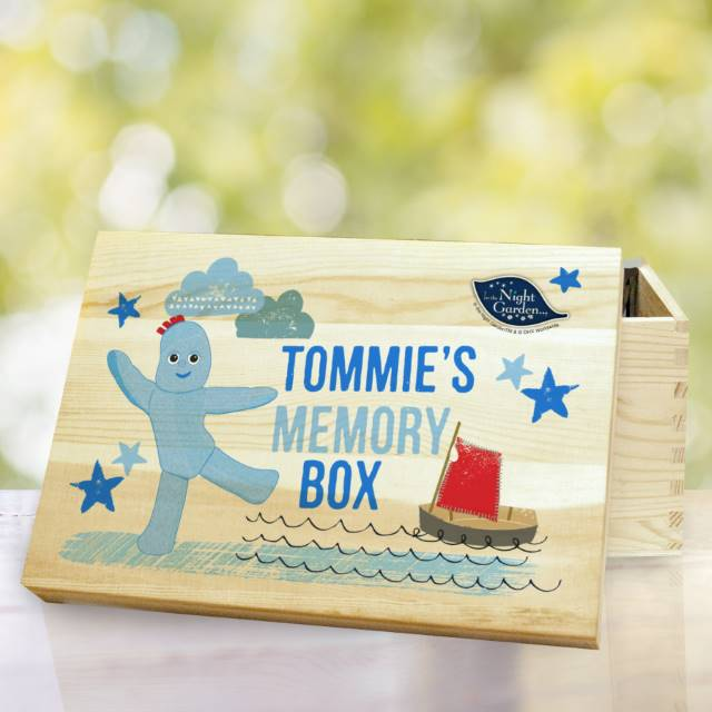 Personalised In The Night Garden Igglepiggle Wooden Storage Box, Furniture by Low Cost Gifts