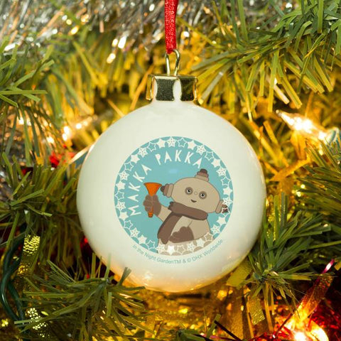 Personalised In The Night Garden Makka Pakka Snowtime Bauble