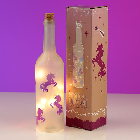 Decorative LED Glass Unicorn Bottle Light
