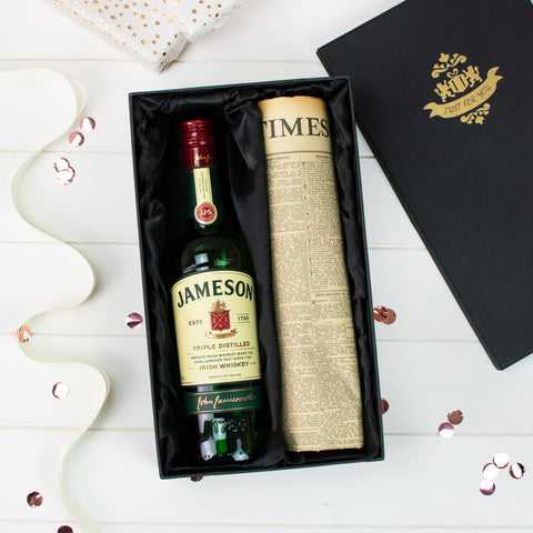 Jameson Irish Whiskey and Original Newspaper Gift Set