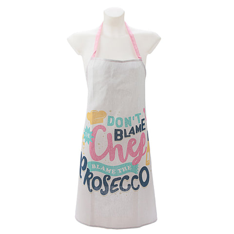 Funky Prosecco Slogan Cotton Apron | ShaneToddGifts.co.uk